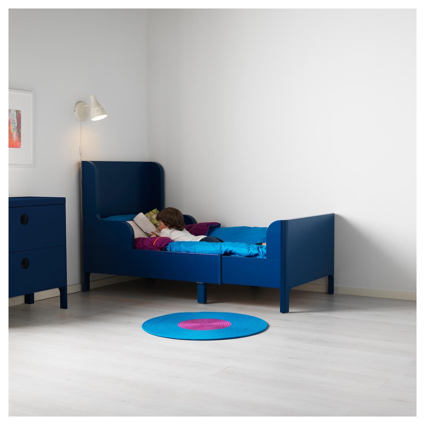 busunge extendable bed medium blue 80x200 cm ikea. Black Bedroom Furniture Sets. Home Design Ideas