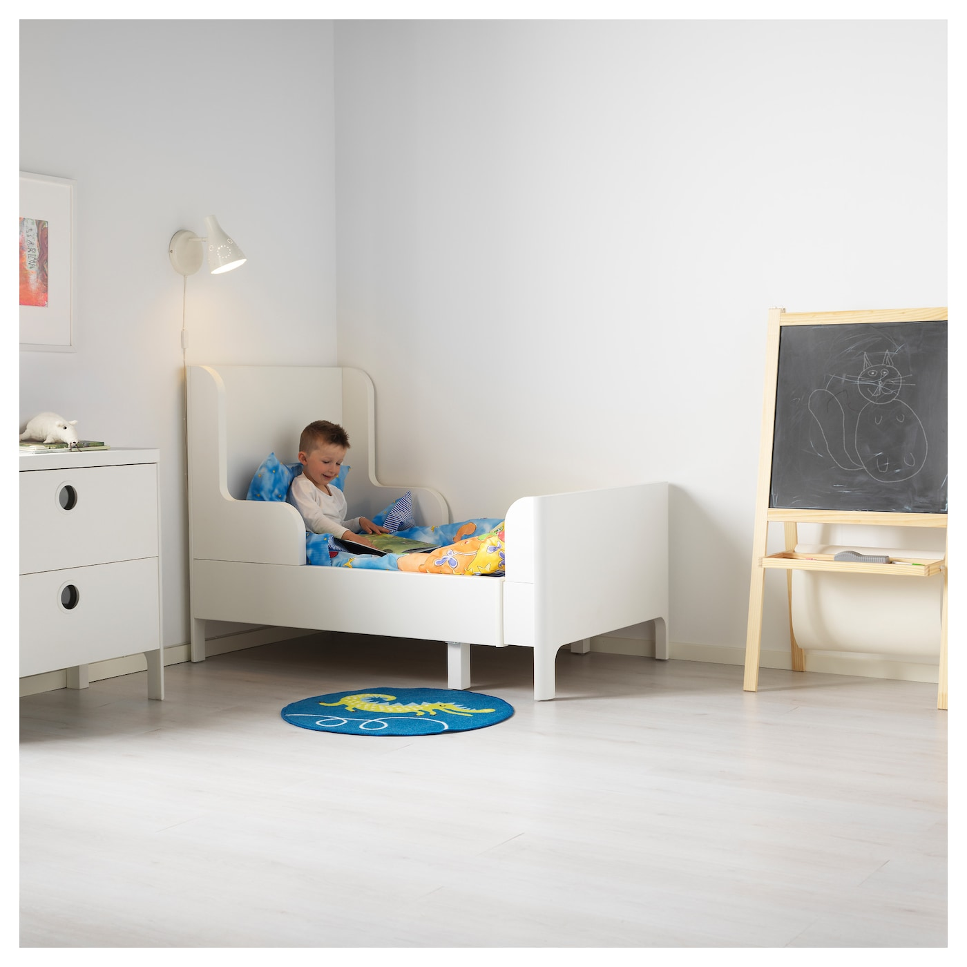 Busunge extendable bed white 80x200 cm ikea for Ikea children furniture