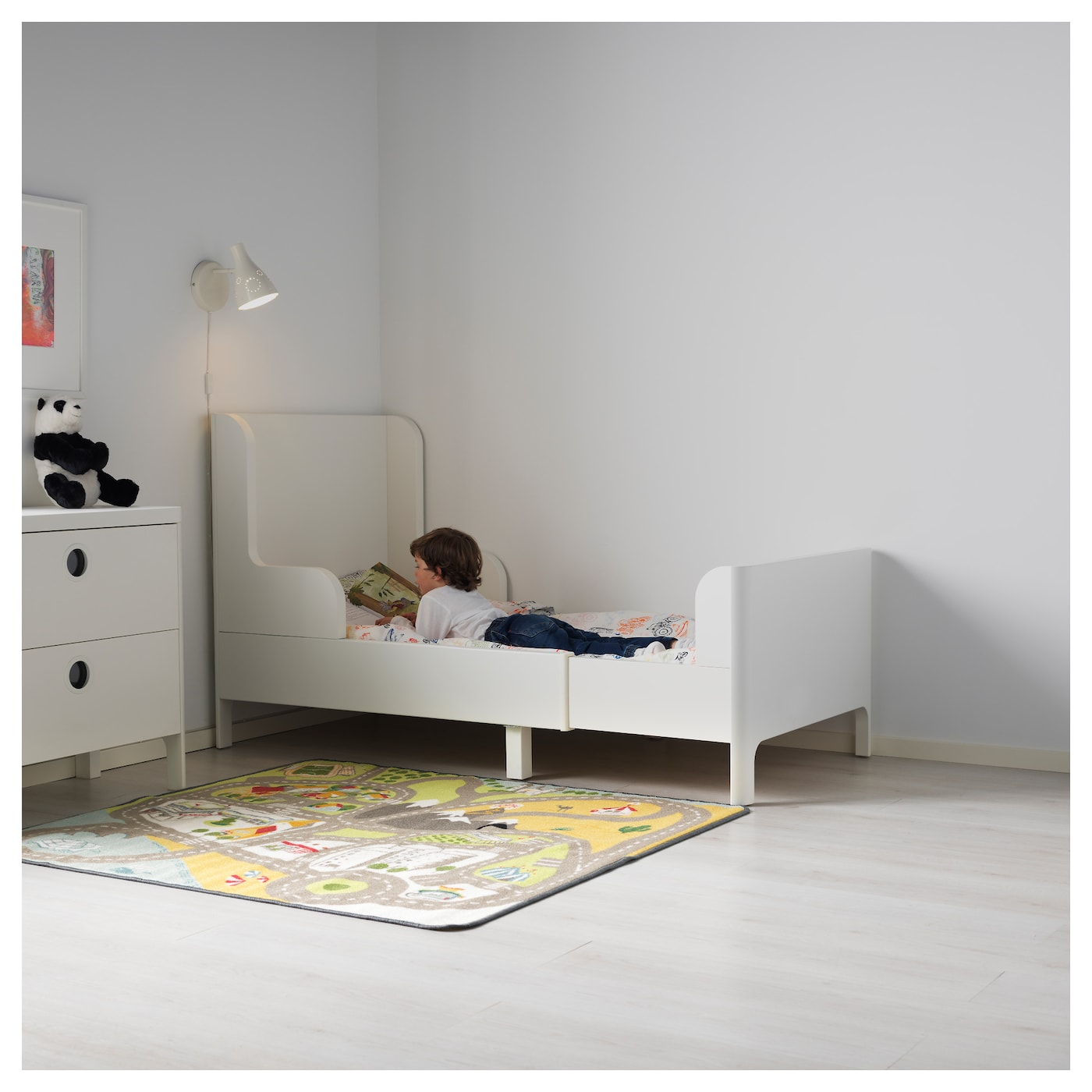 ikea kids beds busunge extendable bed white 80x200 cm ikea 29549