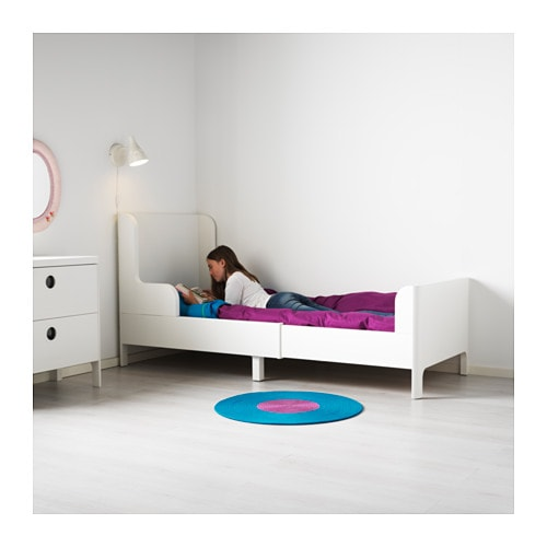 busunge extendable bed white 80x200 cm ikea. Black Bedroom Furniture Sets. Home Design Ideas