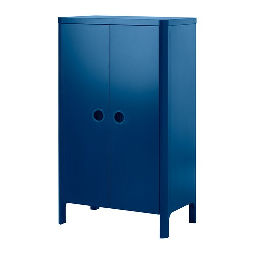 Busunge Wardrobe Medium Blue 80 X 139 Cm Ikea