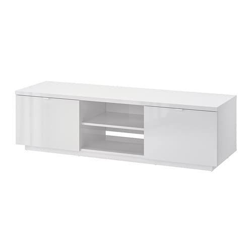 Ikea ByÅs Tv Bench The Open Compartment Has An Adjule Shelf For A Dvd Player Or