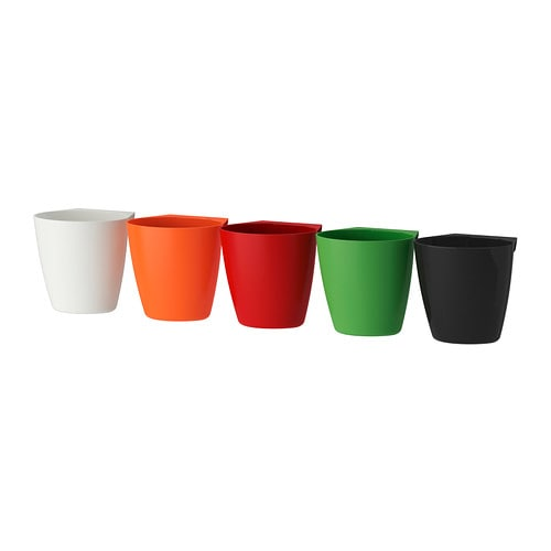 BYGEL Container IKEA Can be hung on BYGEL rail or mounted to the wall.  Saves space on the worktop.