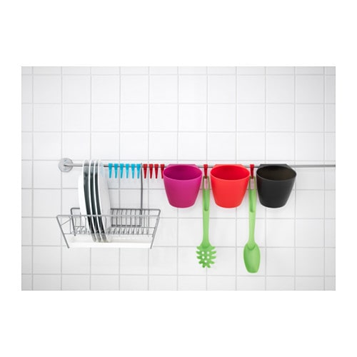 Ikea bygel kitchen garden herb storage container pot fits hanging wall rail d110 ebay - Ikea container home ...