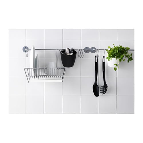 Ikea bygel 55cm hanging rail kitchen utensil rack towel Towel storage ideas ikea