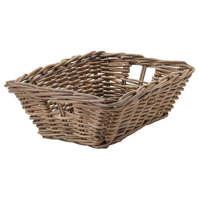 BYHOLMA Basket, grey, 36x51x17 cm