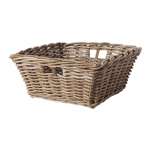Byholma basket grey 40x40x18 cm ikea - Panier osier rangement ikea ...
