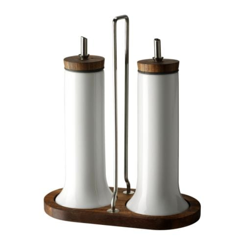 CELEBER 3-piece oil/vinegar set IKEA With drip stopper to prevent spills.