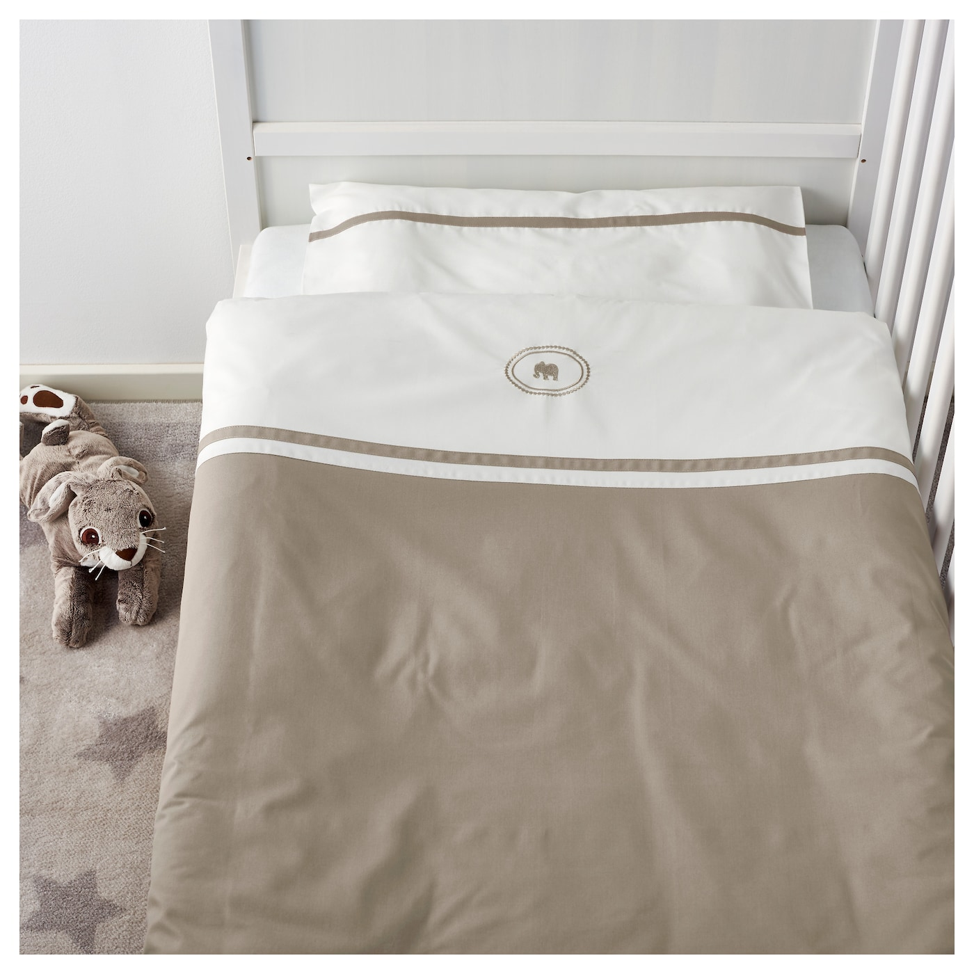 IKEA CHARMTROLL quilt cover/pillowcase for cot