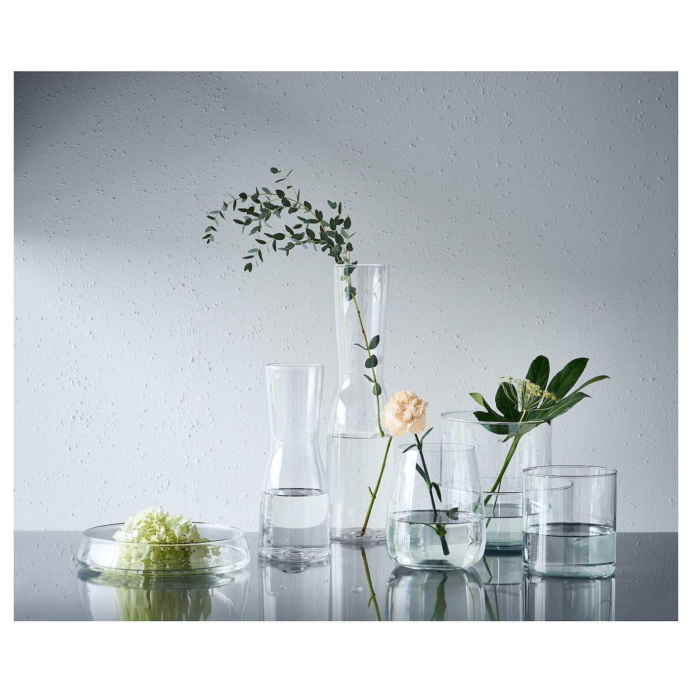 IKEA CYLINDER vase/bowl, set of 3 Can be stacked inside one another to save room when storing.