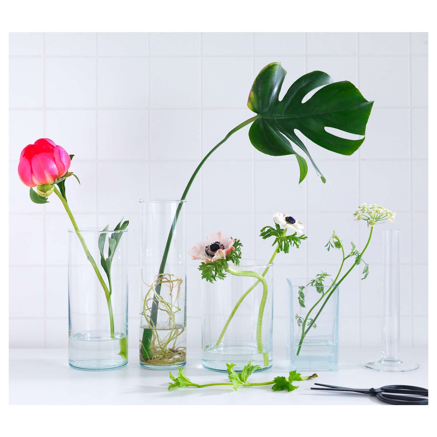 Cylinder vase set of 3 clear glass ikea ikea cylinder vase set of 3 can be stacked inside one another to save room reviewsmspy