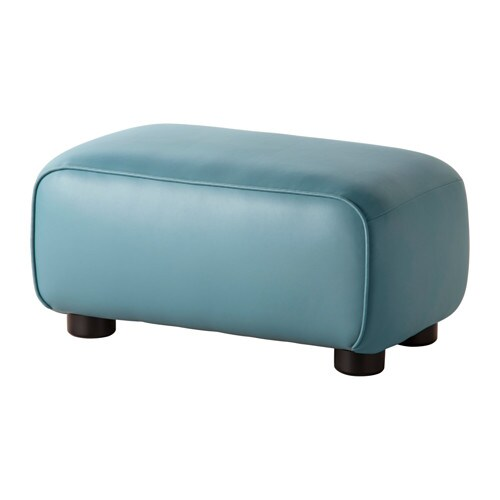 IKEA DAGARN footstool Durable coated fabric that has the same look and feel as leather.