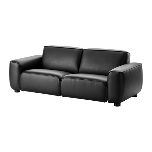 IKEA DAGARN three-seat sofa Durable coated fabric that has the same look and feel as leather.