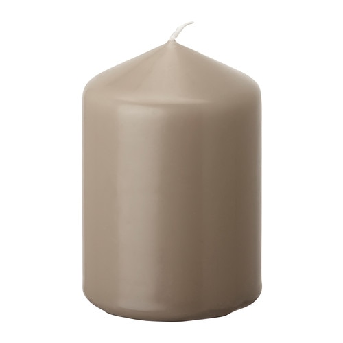 DAGLIGEN Unscented block candle IKEA