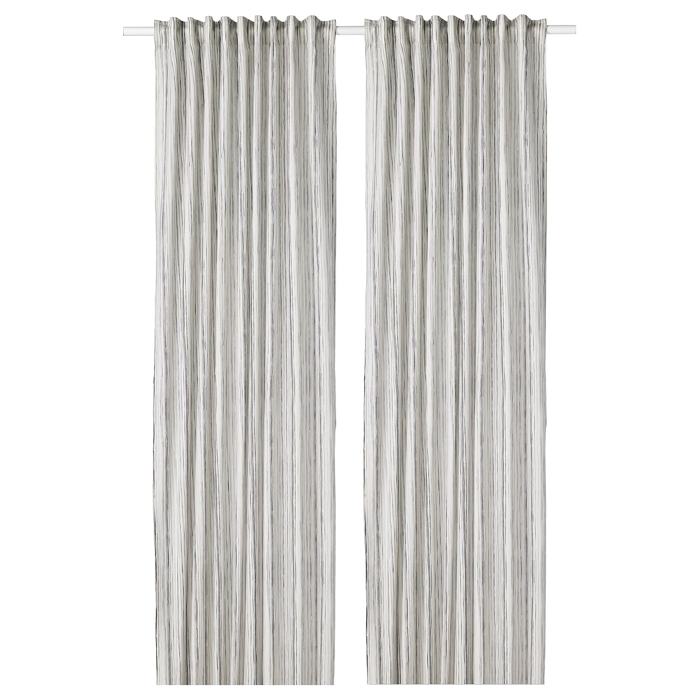 IKEA DAGRUN Curtains 1 Pair The Can Be Used On A Curtain Rod Or