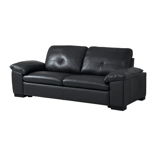 DAGSTORP Three-seat sofa IKEA Soft, hardwearing and easy care leather; practical for families with children.