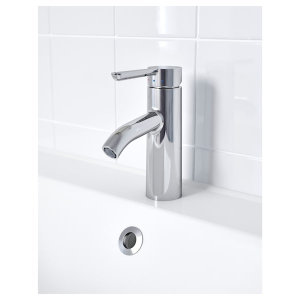 DALSKÄR Wash-basin mixer tap with strainer, chrome-plated