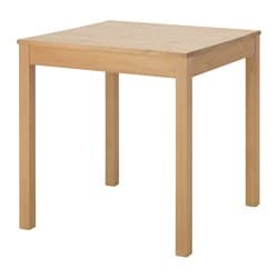 IKEA DANHULT Table Solid Pine; A Natural Material That Ages Beautifully.