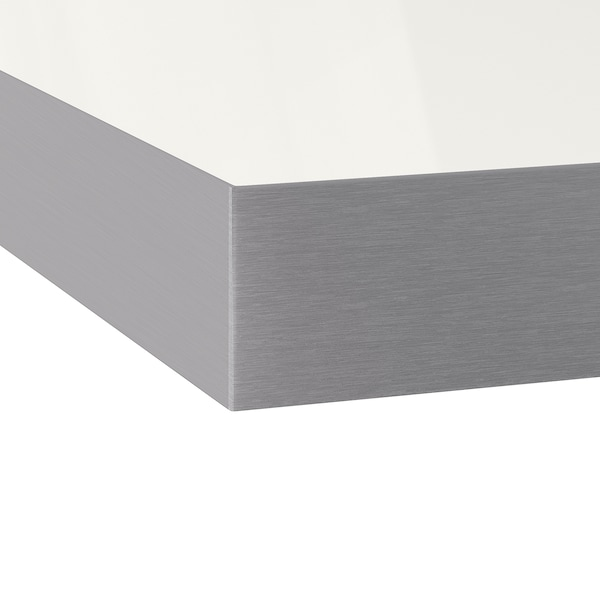 DEJE Custom made worktop, white high-gloss/laminate, 45.1-63.5x7.7 cm