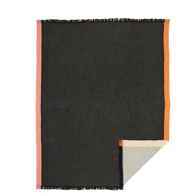 DEKORERA Throw, anthracite, 130x160 cm