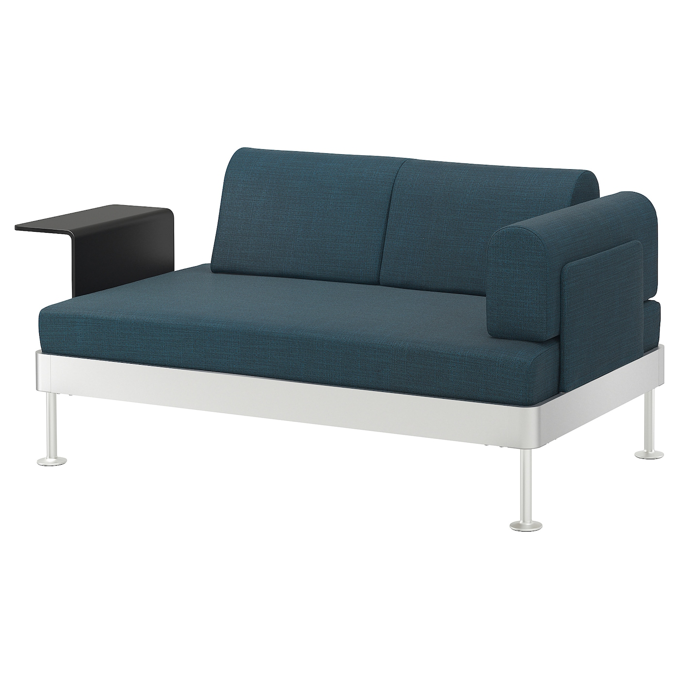 Delaktig 2 seat sofa with side table hillared dark blue ikea Rotes sofa kiel