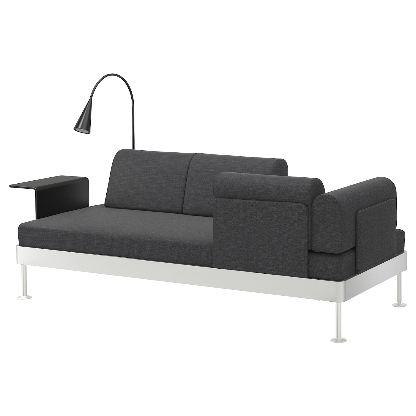 IKEA DELAKTIG 3-seat sofa w side table and lamp