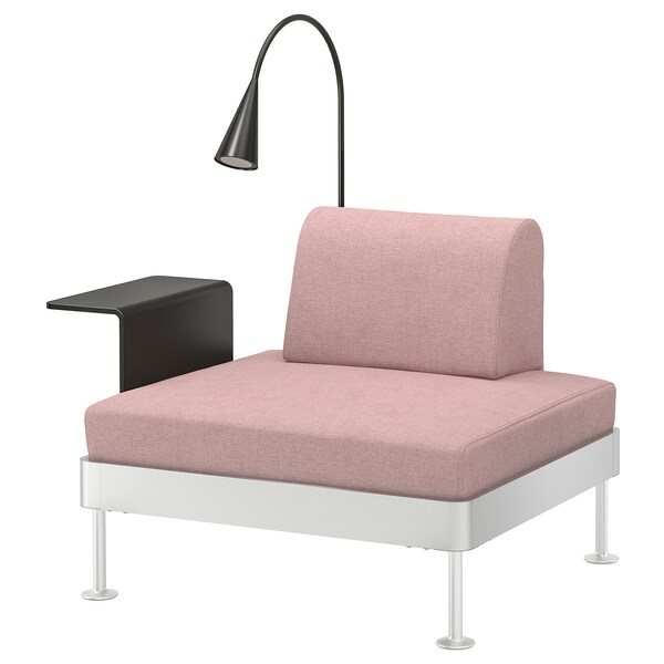 Armchair With Side Table And Lamp Delaktig Gunnared Light Brown Pink