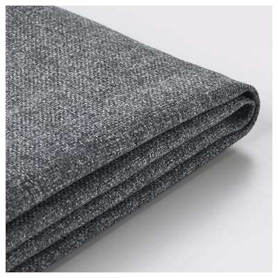 DELAKTIG Cover for seat cushion, 2-seat sofa, Gunnared medium grey