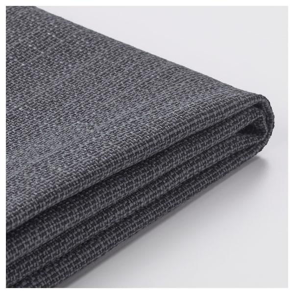 DELAKTIG cover for seat cushion, 3-seat sofa Hillared anthracite