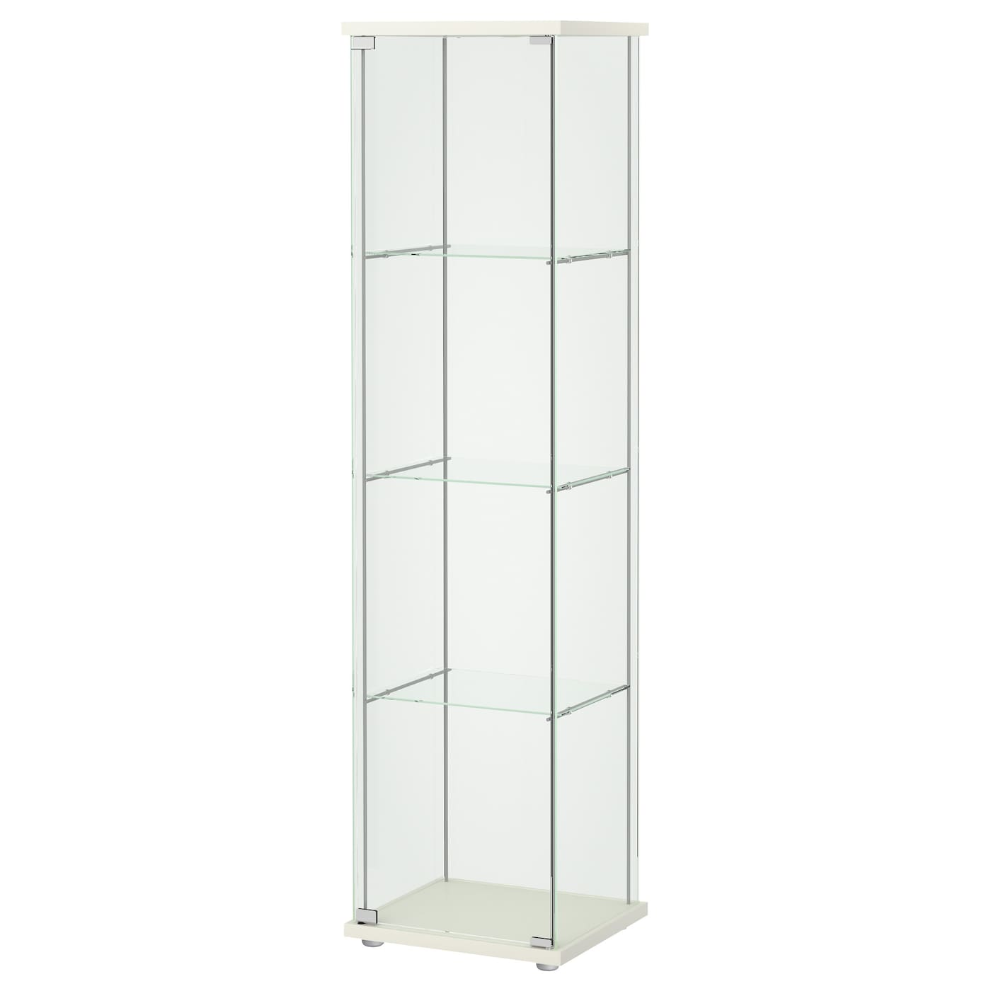 detolf glass door cabinet white 43 x 163 cm ikea. Black Bedroom Furniture Sets. Home Design Ideas