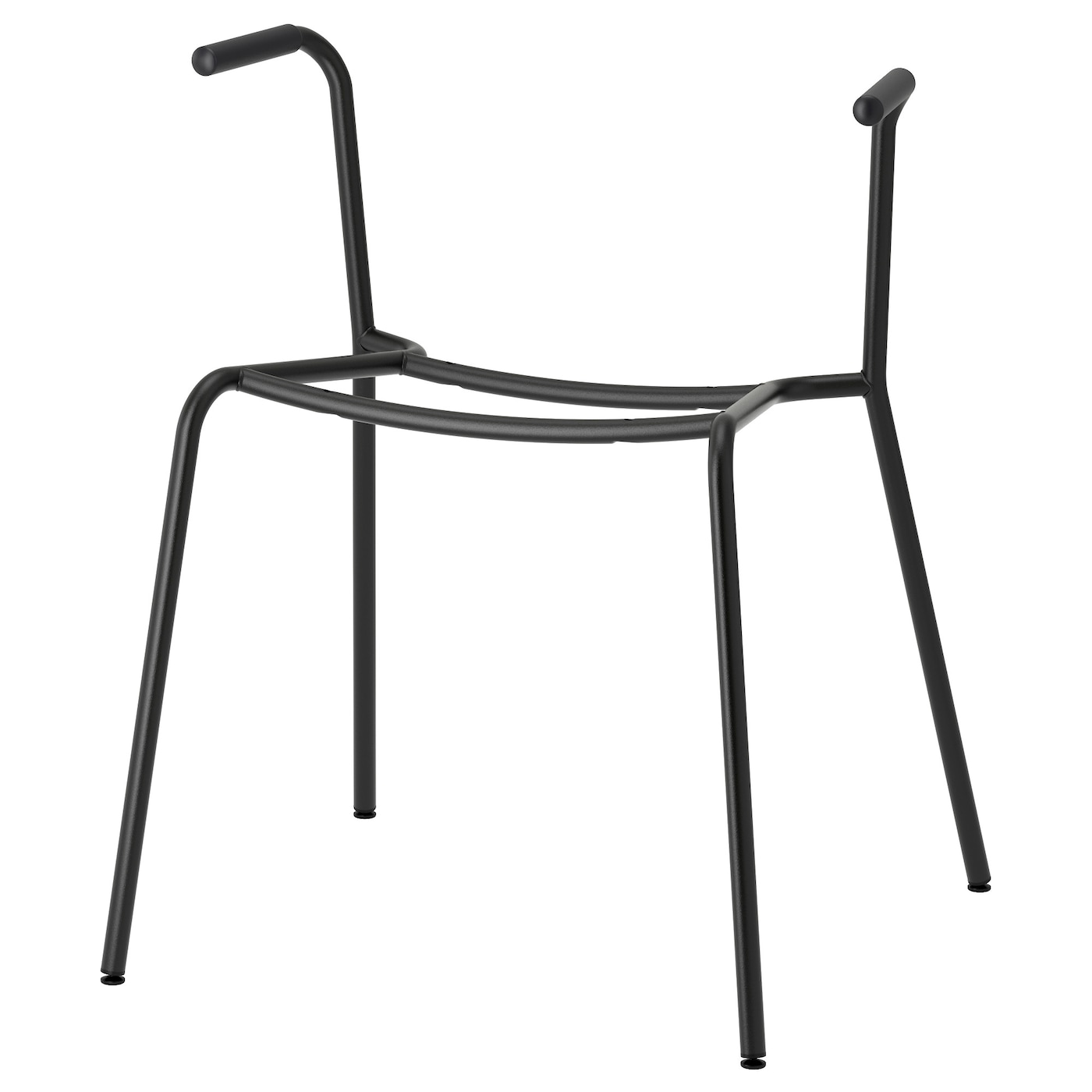 IKEA DIETMAR underframe for chair with armrests The dampers allow you to stack the chairs.