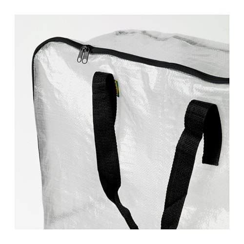 Dimpa storage bag transparent 65x22x65 cm ikea for Housse matelas transport