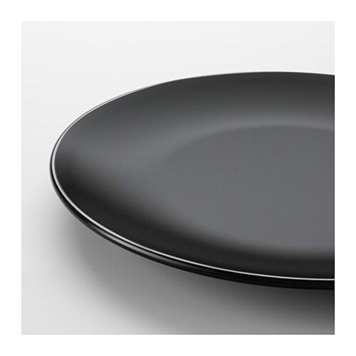 Dinera plate black 26 cm ikea for Ikea vaisselle de table