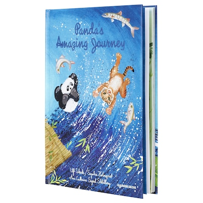 DJUNGELSKOG book Panda's amazing journey 32 pieces 22.2 cm 31.4 cm