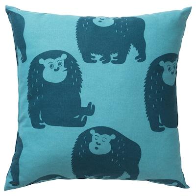 DJUNGELSKOG Cushion, monkey/blue, 50x50 cm
