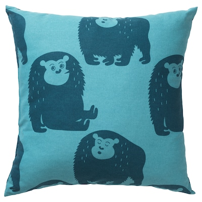 DJUNGELSKOG cushion monkey/blue 50 cm 50 cm 350 g 490 g