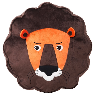DJUNGELSKOG cushion lion/brown 39 cm