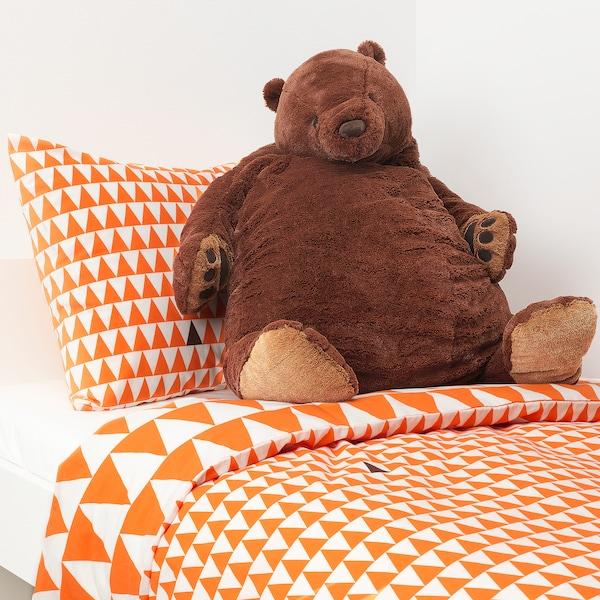 DJUNGELSKOG soft toy brown bear 100 cm