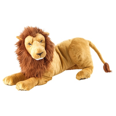 DJUNGELSKOG soft toy lion 70 cm