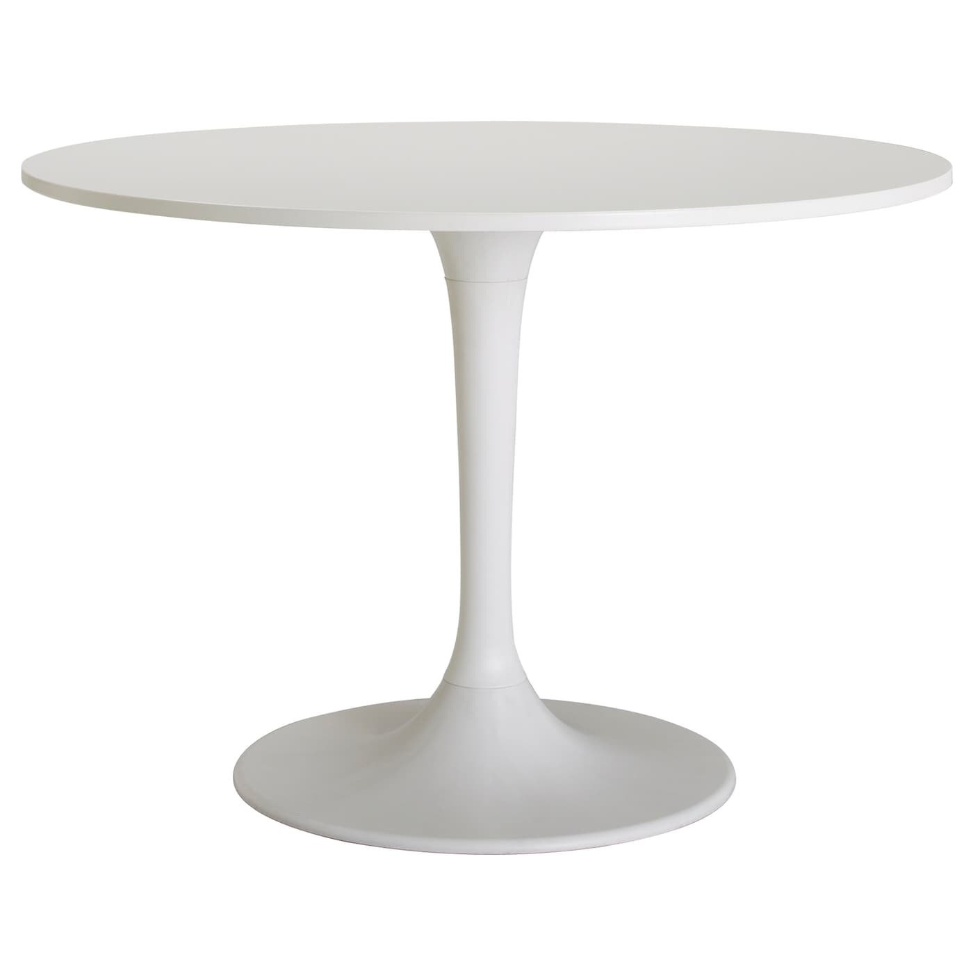Docksta table white 105 cm ikea - Tables rondes avec rallonges ikea ...