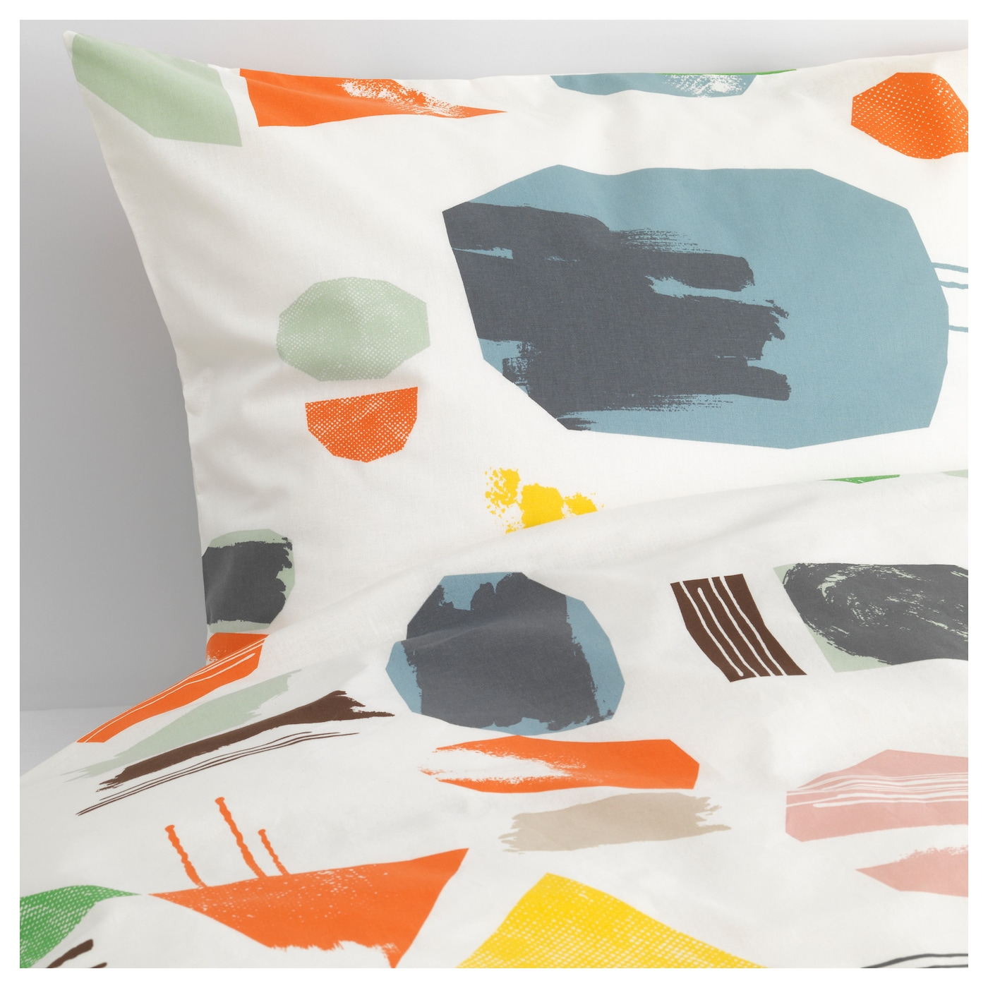 IKEA DOFTKLINT quilt cover and 4 pillowcases Cotton, feels soft and nice against your skin.