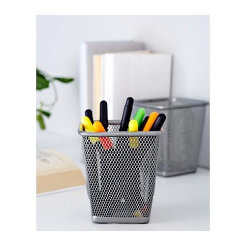 Dokument pen cup silver colour ikea - Portapenne ikea ...