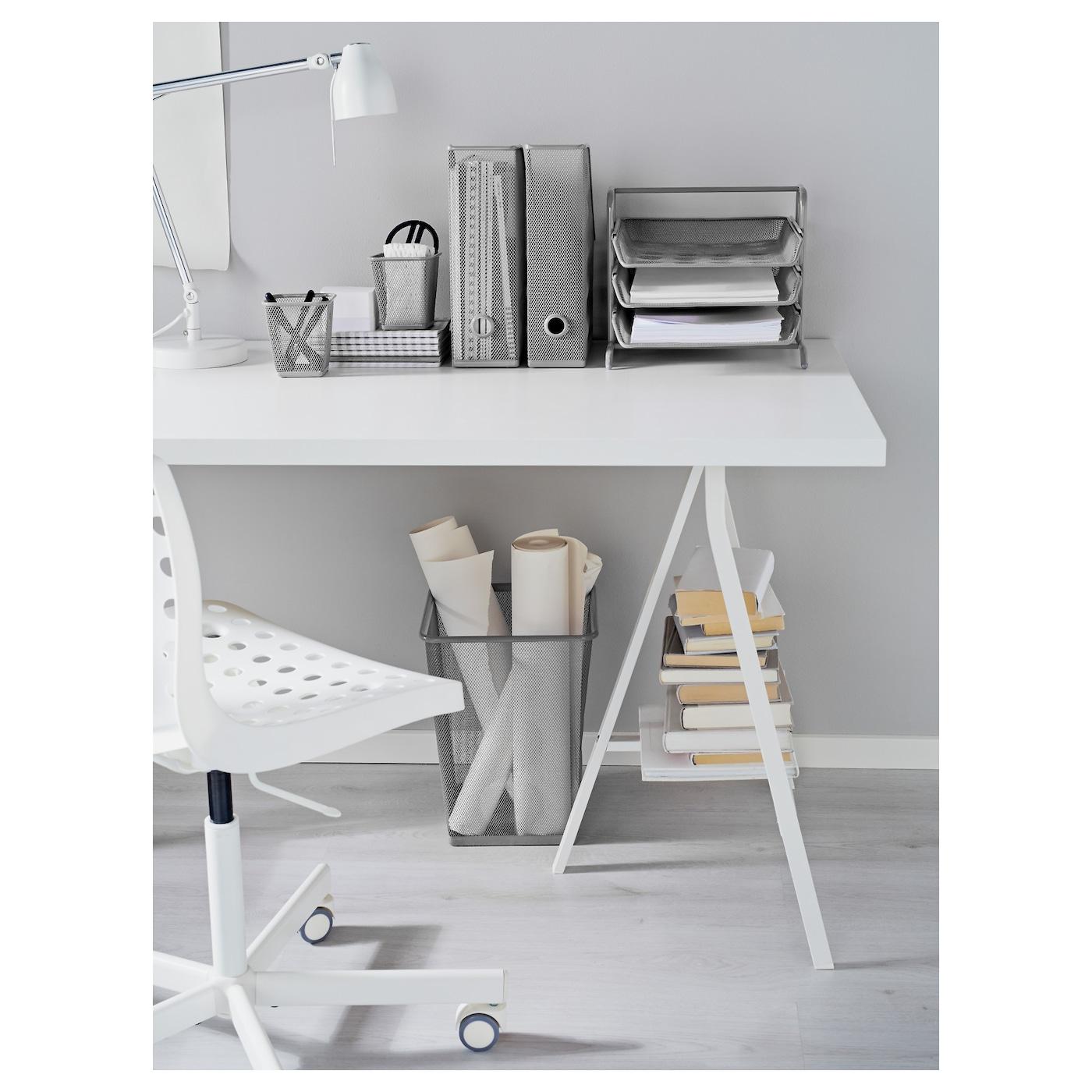 Waste Paper Basket dokument wastepaper basket silver-colour - ikea