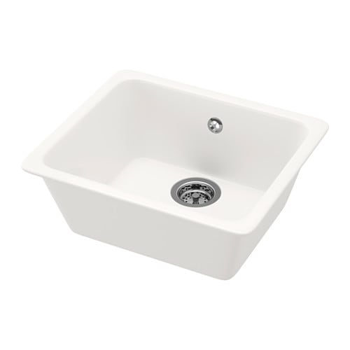 IKEA DOMSJÖ inset sink, 1 bowl 25 year guarantee. Read about the terms in the guarantee brochure.