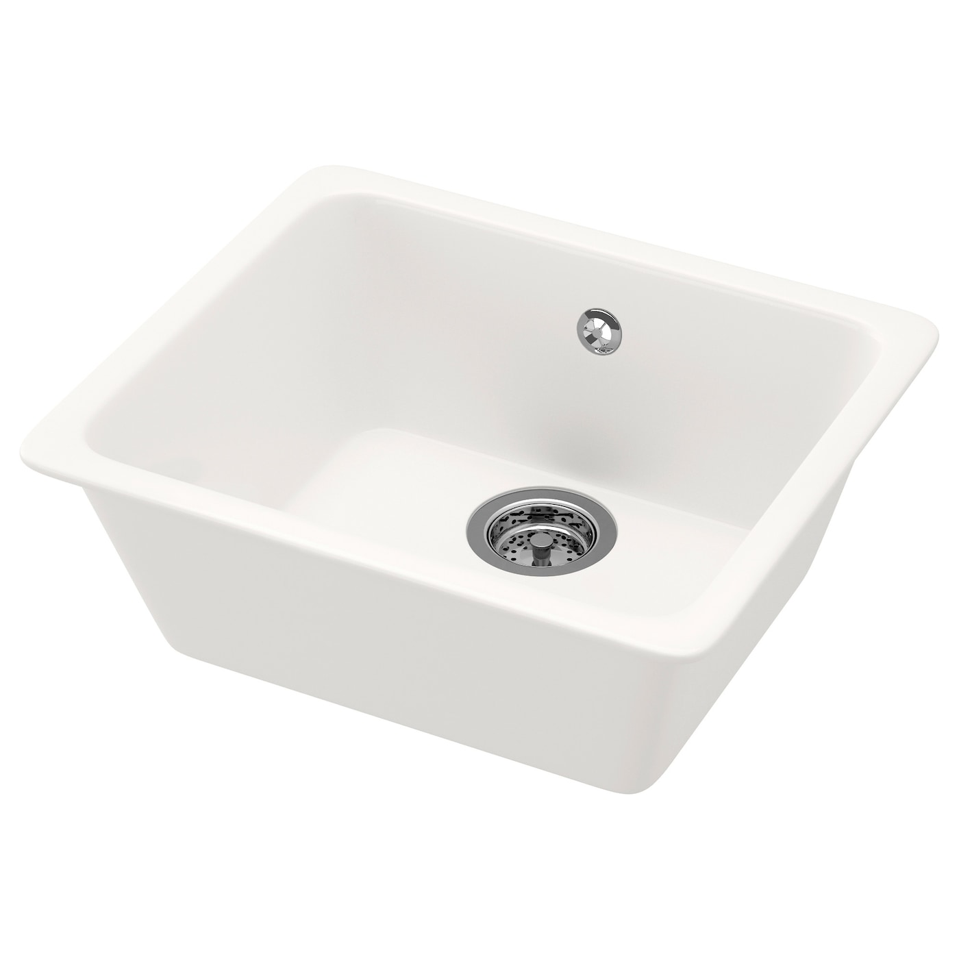 Ikea Kitchen Sink Domsj inset sink 1 bowl white 53x45 cm ikea ikea domsj inset sink 1 bowl 25 year guarantee read about the terms in workwithnaturefo