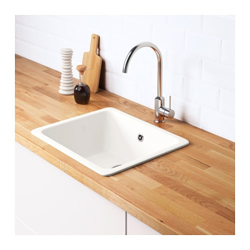 domsj inset sink 1 bowl white 53x45 cm ikea. Black Bedroom Furniture Sets. Home Design Ideas