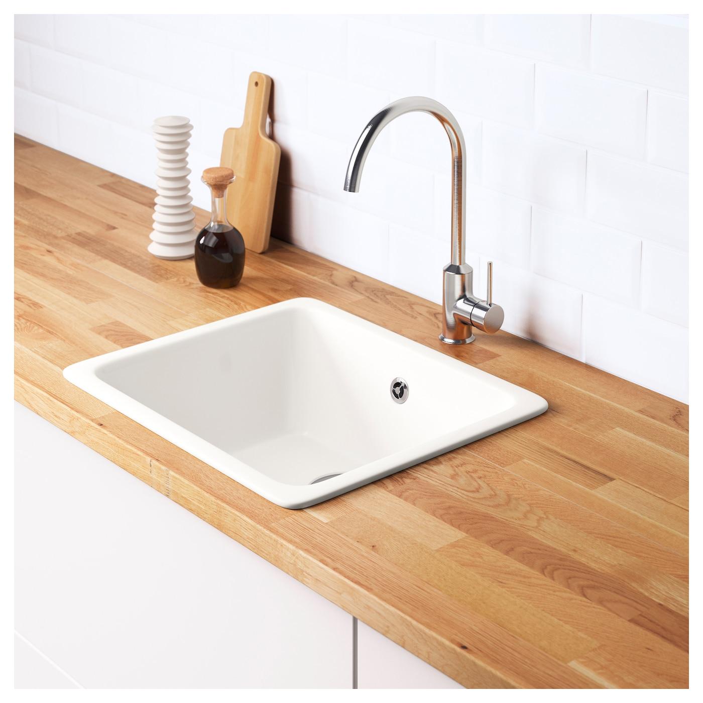 domsj inset sink 1 bowl white 53x45 cm ikea. Black Bedroom Furniture Sets. Home Design Ideas