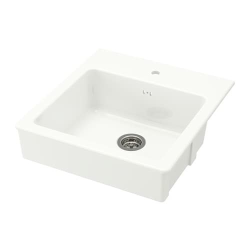 IKEA DOMSJÖ onset sink, 1 bowl 25 year guarantee. Read about the terms in the guarantee brochure.