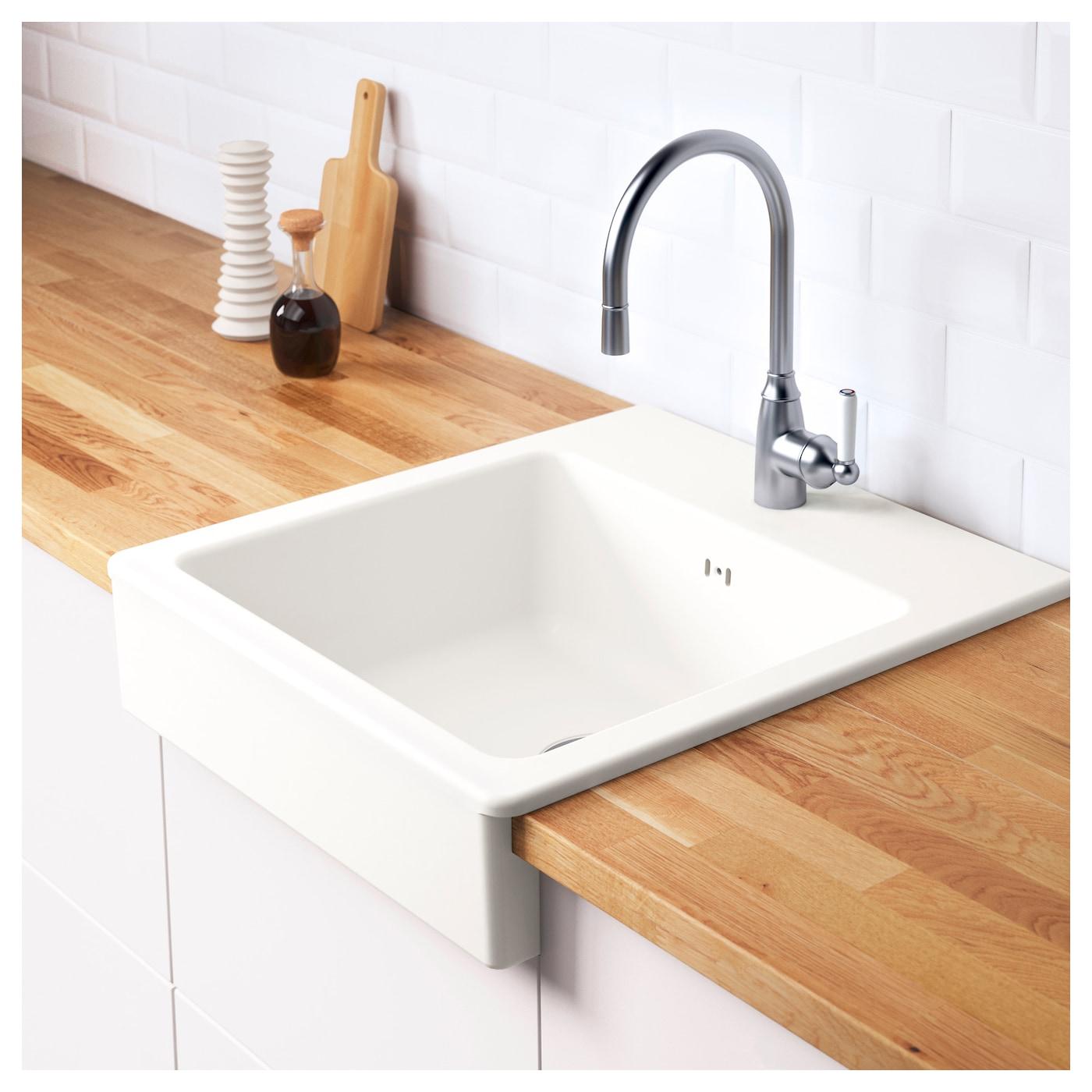 domsj onset sink 1 bowl white 62 x 66 cm ikea. Black Bedroom Furniture Sets. Home Design Ideas