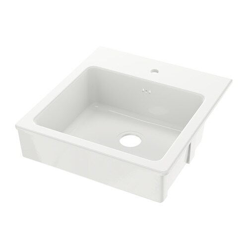 IKEA DOMSJÖ sink bowl 25 year guarantee. Read about the terms in the guarantee brochure.